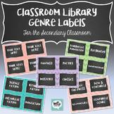 Classroom Library Genre Labels - 5 colors (Polkadots, Stri