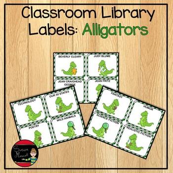 Classroom Library Genre Labels: Alligator Theme