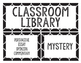 Classroom Library Genre Labels- Black and White
