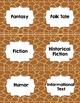Classroom Library Genre Labels Giraffe