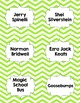 Classroom Library Genre Labels Lime Green Chevron