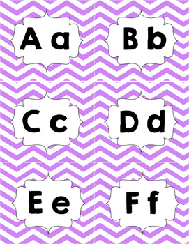 Classroom Library Genre Labels Purple Chevron