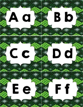 Classroom Library Genre Labels Snake