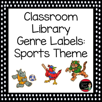 Classroom Library Genre Labels: Sports Theme