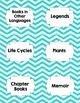 Classroom Library Genre Labels Teal Chevron