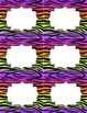 Classroom Library Genre Labels Rainbow Zebra