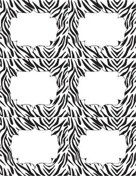 Classroom Library Genre Labels - Zebra