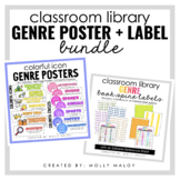 Classroom Library Genre Poster and Book Spine Label Bundle