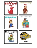 Classroom Library Genre, Series, Chapter Book Bin Labels