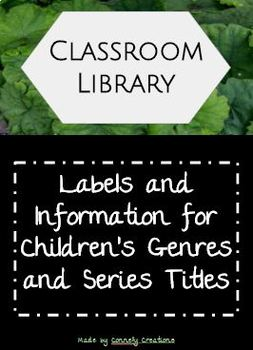 Classroom Library Genre & Title Labels and Information