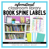 Classroom Library Informational Book Spine Labels