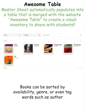 Classroom Library Inventory System
