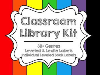 Classroom Library Kit {Primary Colors}