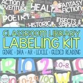 EDITABLE Classroom Library Labeling Kit - Black Book & Bin Labels