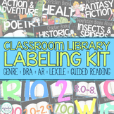 EDITABLE Classroom Library Labeling Kit - Black Labels