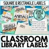 EDITABLE Classroom Library Labels | Matching Book & Bin La
