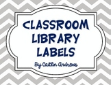 Classroom Library Labels by Genre