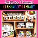 Rainbow Themed Book Tub Labels