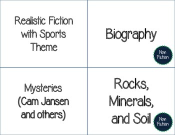 Classroom Library Labels - FREEBIE