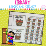 Classroom Library Labels- Editable with Stickers