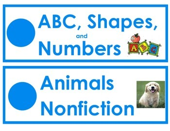 English Classroom Library Labels