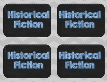 Library Book Labels-Blue