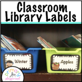 Classroom Library Labels Book Bin Labels- Editable