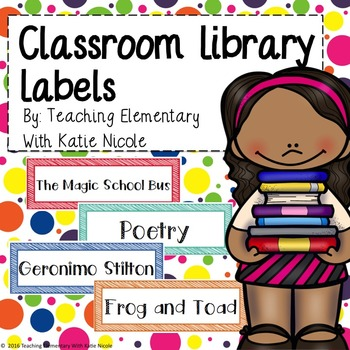 64 Classroom Library Labels