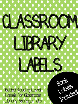 Classroom Library Labels: Black and White