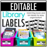 Classroom Library Labels | EDITABLE