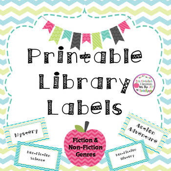 Free Printable Classroom Library Labels (Fiction and Non-Fiction Genres)