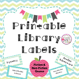 Printable Classroom Library Labels (Fiction and Non-Fiction Genres)