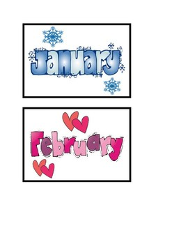 Classroom Library Labels Months of the Year FREEBIE!!