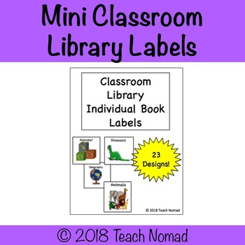 Mini Classroom Library Labels (Individual Books)
