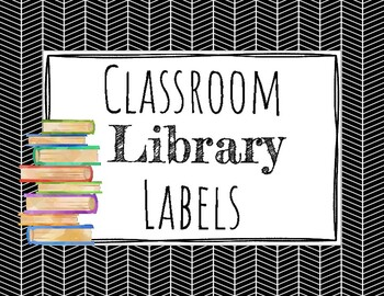 Classroom Library Labels- Farmhouse- Black and White