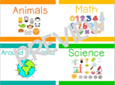 Classroom Library Labels / A-S & Categories