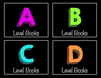 Classroom Library Labels A-Z