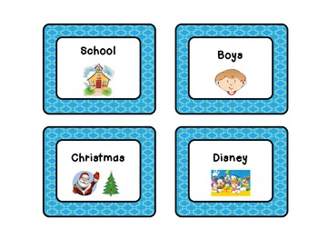 Classroom Library Labels: Aqua Design