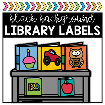 Classroom Library Labels - Bold and Black