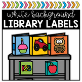 Library Labels - White