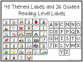 Classroom Library Labels: Black