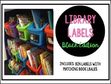 Classroom Library Labels: Black Edition
