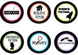 Classroom Library Labels - Black & Rainbow