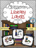 Classroom Library Labels {Black Swirl}