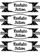 Classroom Library Labels-Black and White