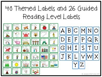 Classroom Library Labels: Blue & Green