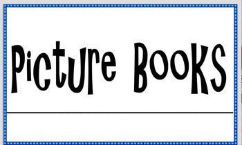 Classroom Library Labels- Book Bin Labels!