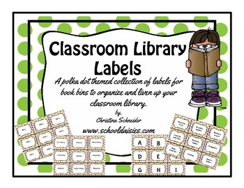 Classroom Library Labels/ Book Bin Labels