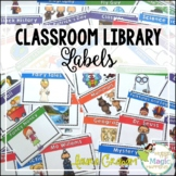 Classroom Library Book Bin Labels - EDITABLE-
