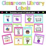 Classroom Library Labels - Book Bin Labels